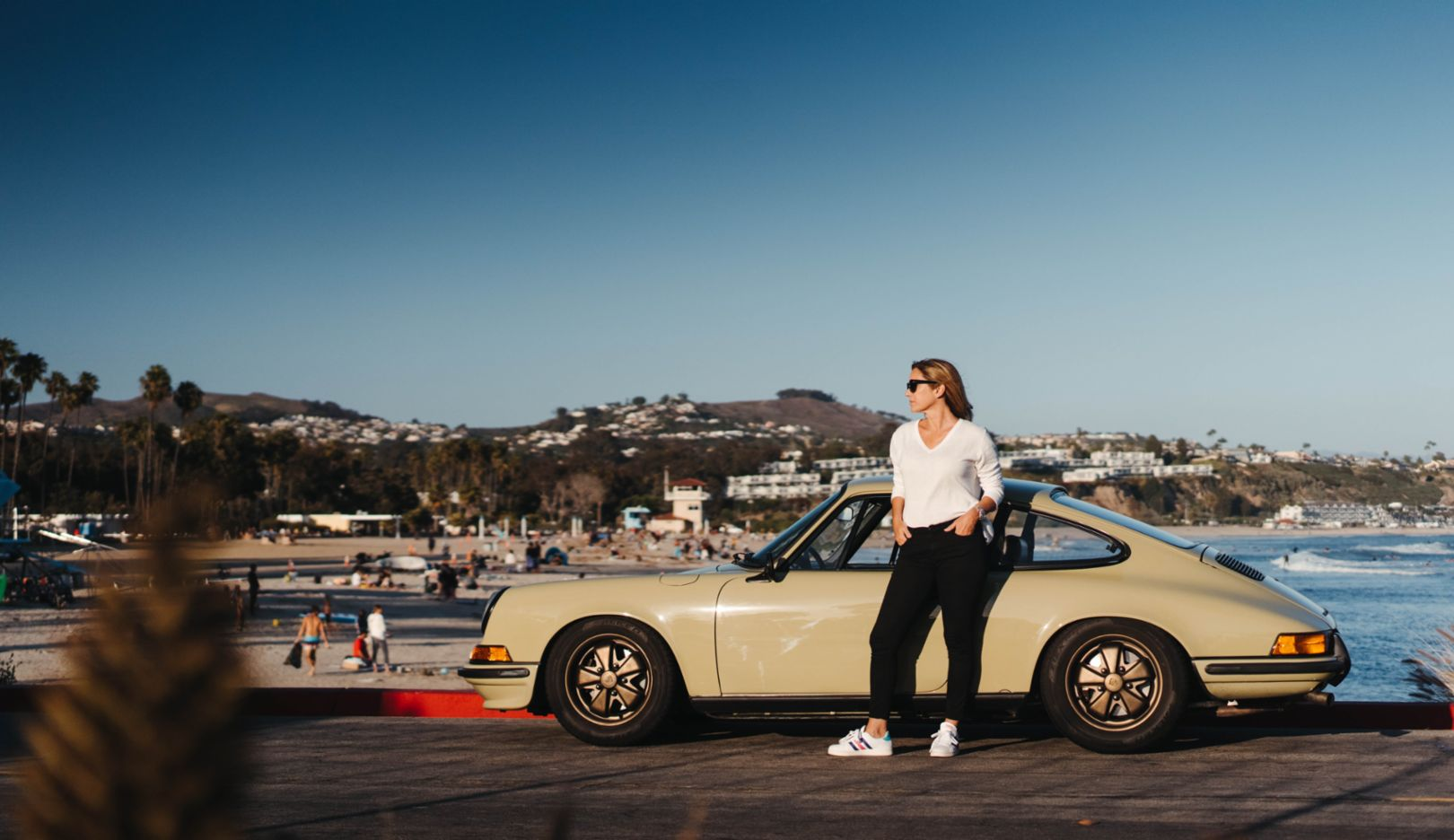 California Dreamin': live in the moment and enjoy life. Things are going well in Newport Beach—here, with Lara's 911 T model.