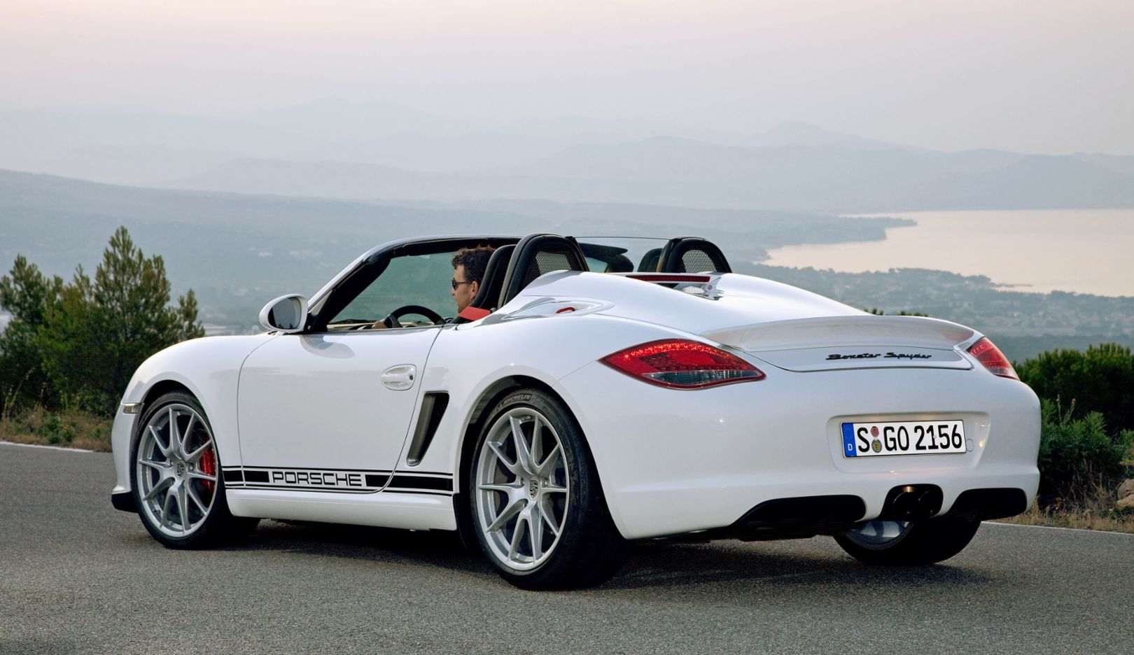 987 generation: Boxster Spyder special edition (2010). The Boxster Spyder becomes known as Porsche's lightest street-legal sports car when it is presented in 2009. It weighs eighty kilograms less than the Boxster S and produces over 10 PS more power.