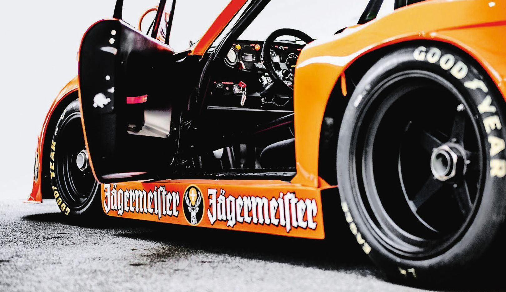 Climb in: A look at the cockpit of the Porsche 935 K3 at the Rennsport Reunion at Laguna Seca.