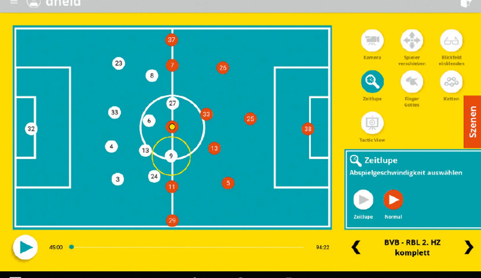 Targeted preparation for the next opponent: Soccerbot360 can simulate playing systems, thereby training the player to find solutions.